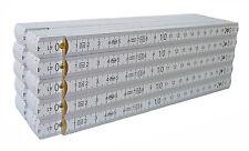 ADGA Zollstock Holz-Gliedermaßstab weiss lackiert 2 m 10 er Pack