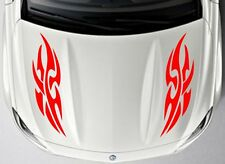 Car Tribal Racing flames Sport Hood Decals  Vinyl sticker #CG339
