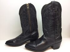 MENS UNBRANDED COWBOY LEATHER BLACK BOOTS SIZE 10 EE CUSTOMIZED