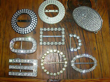 HUGE LOT VINTAGE TO MOD BELT BUCKLES RHINESTONES