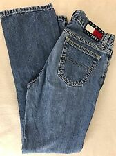 VTG 90s Tommy Hilfiger Button Fly Jeans Patch Spell Out Logo Juniors Sz 3