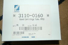 Nalgene 3110-0160 PPCO 16 mL Round-Bottom/Open-Top Centrifuge Tube 10