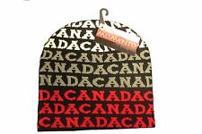 CANADA BLACK WITH WORD TOQUE HAT..FOR ADULTS.. MOMENTO