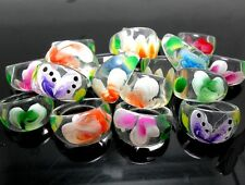 15pcs Flower Mix Women Resin Rings Wholesale Fashion Jewelry Job Lots