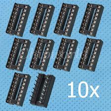 10PCS DIP-16 IC Socket Adaptor DIP16 Solder Type Socket DIP 16 pins