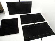 "Black Velvet Board for Bracelets/Watches 3/15"" X 7.5"" & 1/8.5"" X 8"" (Lot of 4 )"