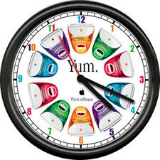 Apple Computer Dealer Yum Colorful Desktop Art Sign Wall Clock