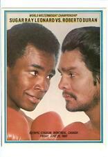 1980 Sugar Ray Leonard vs Roberto Duran Program Boxing World Championship
