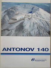 DOCUMENT 1 PAGE RECTO VERSO ANTONOV AN-140 REGIONAL AIRLINER KHARKOV