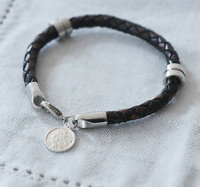 St Christopher Wristband (Brown), Travel Gifts, Mens Jewellery