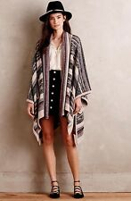 NEW $368 Anthropologie Valahalla Poncho Twelfth Street Cynthia Vincent SZ Large