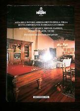 ASTA DELL'ARREDAMENTO DELLA VILLA DI UNA IMPORTANTE FAMIGLIA LUCCHESE # 1992
