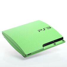 Green Carbon PS3 slim Textured Skins -Full Body Wrap- decal sticker cover