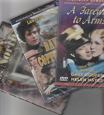 3 DVDs  A Farewell To Arms-David Copperfield-Mr. and Mrs. North  NEW