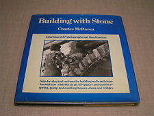 Building with Stone - Illus. HCDJ How-to Book for Walls Steps Home Foundations +