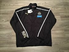 Puma Newcastle United FC Men Walkout Soccer Jacket Black XL Lightweight NWT $80