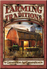 Vintage Replica Tin Metal Sign Farming Traditions John Deere Tractors Farm 1755