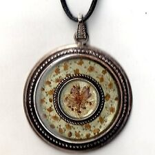 PENDENTIF ART DECO - VINTAGE - FLEUR NATUREL SECHEE  ANNEE 60 DECOR LIBERTY
