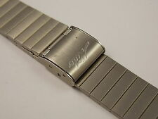 Vintage Stainless Steel Mido sliding clasp watch band for LCD watch NOS unused