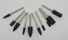 10 tampons pointes à polir caoutchouc pour dremel - polissage - bijoutier