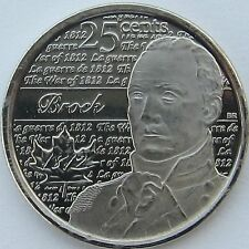 CANADA 2012 - WAR OF 1812 - SIR ISAAC BROCK - 25¢ COIN 2nd OF SERIES IN RCM WRAP