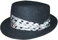 Paul Smith 100% LANA BORSALINO/Cappello con fascia di seta taglia-M molto rara MADE IN ITALY