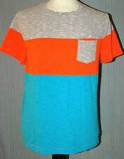 Tony Hawk Adult Large Light Blue Orange Gray T-Shirt (L Skate Skateboard Champ)