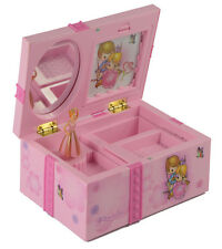 Girl Music Box Childrens Musical Jewellery Box Rectangle with Pink Ballerina