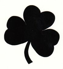 Reflective Black Notre Dame Fighting Irish shamrock 1.75 inch fire helmet decal