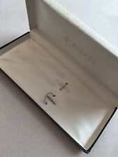 VINTAGE PARKER METAL FOUNTAIN PEN BOX-VERY GOOD CONDITION-BOX ONLY