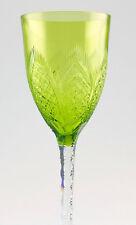 Römer Weinglas gelb-grün pistache geschliffen Saint Louis Model TIVOLI 1930