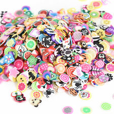 DIY 1000pcs 3D Fruit Animals Fimo Slice Clay Nail Art Tips Sticker Decorations