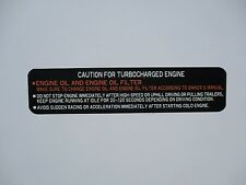 1986-1987 toyota sr5 turbo pickup 4x4 and sr5 turbo pickup 2wd glovebox label