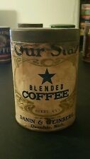 VINTAGE ADVERTISING OUR STAR COFFEE PAPER LABLE TIN OWENDALE  MICH.
