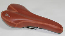 NEW BROWN Bike Seat Synthetic Leather Track Fixed Gear Road Bicycle Saddle