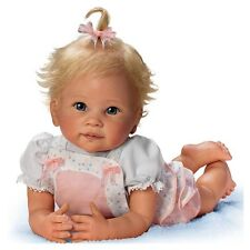 Ashton Drake - Addie's Tummy time baby doll by Linda Murray