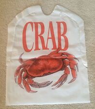 CRAB BIBS SET of 25 Disposable Plastic FREE SHIPPING Seafood Lobster Feast bake