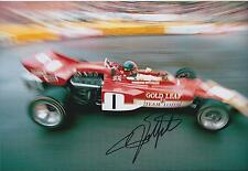 Emerson FITTIPALDI Autograph SIGNED Team LOTUS Formula 1 F1 12x8 Photo AFTAL COA