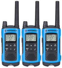 3 Motorola TalkAbout T461 FRS GMRS 2-WAY Radios Walkie Talkie Ni-MH Case WEATHER