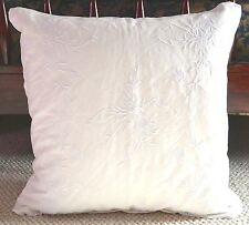 NEW HTF RALPH LAUREN HOME DEAUVILLE JEMMA EMBROIDERY THROW PILLOW ~ WHITE
