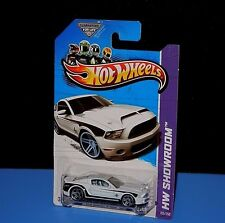Hot Wheels '10 FORD SHELBY GT-500 Super Snake HW Showroom White w/Blue Whls