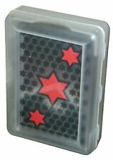 Clear Transparent Plastic Star Pattern Poker Playing Cards