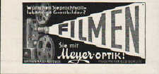 GÖRLITZ, Werbung / Anzeige um 1937, Hugo Meyer & Co. Meyer-Optik