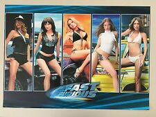 2 FAST 2 FURIOUS,MODELS AND CARS, AUTHENTIC,2003 POSTER
