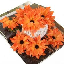 20x Artificial Silk Daisy Flower Wedding bride Hair Clip Accessories Orange
