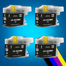 4 Black Ink Cartridge for Brother LC223 DCP-J4120DW MFC-J5625DW MFC-J5720DW