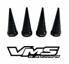 VMS BILLET ALUMINUM BLACK H22 H22A VTEC VALVE COVER SPIRAL SPIKE NUTS BOLT 8 PCS