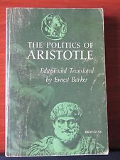 The Politics of Aristotle - edit / translate by Ernest Barker - 1965 PB