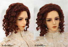 "1/3 bjd 8-9"" head synthetic reddish brown doll wig Iplehouse Soom dollfie luts"