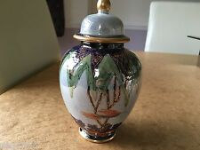 LIMITED EDITION CARLTON WARE LUSTRE GINGER JAR - TREE AND SWALLOW